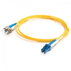 C2G (Cables To Go) - 14482 - C2G 8m LC-ST 9/125 OS1 Duplex Singlemode PVC Fiber Optic Cable (USA-Made) - Yellow - Fiber Optic for Network Device - LC Male - ST Male - 9/125 - Duplex Singlemode - OS1 - USA-Made - 8m - Yellow