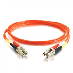 C2G (Cables To Go) / Legrand - 14510 - C2G 15m LC-LC 50/125 OM2 Duplex Multimode PVC Fiber Optic Cable (USA-Made) - Orange - Fiber Optic for Network Device - LC Male - LC Male - 50/125 - Duplex Multimode - OM2 - USA-Made - 15m - Orange