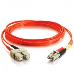 C2G (Cables To Go) - 14520 - C2G 6m LC-SC 50/125 OM2 Duplex Multimode PVC Fiber Optic Cable (USA-Made) - Orange - Fiber Optic for Network Device - LC Male - SC Male - 50/125 - Duplex Multimode - OM2 - USA-Made - 6m - Orange