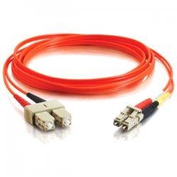 C2G (Cables To Go) - 14527 - C2G 30m LC-SC 50/125 OM2 Duplex Multimode PVC Fiber Optic Cable (USA-Made) - Orange - Fiber Optic for Network Device - LC Male - SC Male - 50/125 - Duplex Multimode - OM2 - USA-Made - 30m - Orange