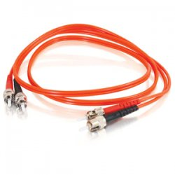 C2G (Cables To Go) - 14537 - C2G 8m ST-ST 50/125 OM2 Duplex Multimode PVC Fiber Optic Cable (USA-Made) - Orange - Fiber Optic for Network Device - ST Male - ST Male - 50/125 - Duplex Multimode - OM2 - USA-Made - 8m - Orange