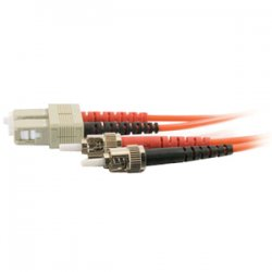 C2G (Cables To Go) - 14550 - C2G 6m SC-ST 50/125 OM2 Duplex Multimode PVC Fiber Optic Cable (USA-Made) - Orange - Fiber Optic for Network Device - SC Male - ST Male - 50/125 - Duplex Multimode - OM2 - USA-Made - 6m - Orange