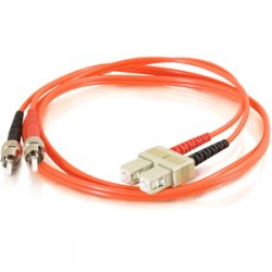 C2G (Cables To Go) - 14552 - C2G 8m SC-ST 50/125 OM2 Duplex Multimode PVC Fiber Optic Cable (USA-Made) - Orange - Fiber Optic for Network Device - SC Male - ST Male - 50/125 - Duplex Multimode - OM2 - USA-Made - 8m - Orange