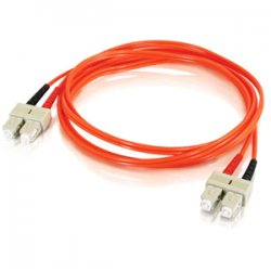 C2G (Cables To Go) - 14561 - C2G 2m SC-SC 50/125 OM2 Duplex Multimode PVC Fiber Optic Cable (USA-Made) - Orange - Fiber Optic for Network Device - SC Male - SC Male - 50/125 - Duplex Multimode - OM2 - USA-Made - 2m - Orange
