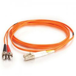 C2G (Cables To Go) - 14582 - C2G 8m LC-ST 50/125 OM2 Duplex Multimode PVC Fiber Optic Cable (USA-Made) - Orange - Fiber Optic for Network Device - LC Male - ST Male - 50/125 - Duplex Multimode - OM2 - USA-Made - 8m - Orange
