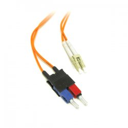 C2G (Cables To Go) - 13520 - C2G 6m LC-SC 62.5/125 OM1 Duplex Multimode PVC Fiber Optic Cable (USA-Made) - Orange - Fiber Optic for Network Device - LC Male - SC Male - 62.5/125 - Duplex Multimode - OM1 - USA-Made - 6m - Orange