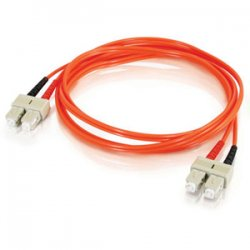 C2G (Cables To Go) / Legrand - 13548 - C2G 4m SC-SC 62.5/125 OM1 Duplex Multimode PVC Fiber Optic Cable (USA-Made) - Orange - Fiber Optic for Network Device - SC Male - SC Male - 62.5/125 - Duplex Multimode - OM1 - USA-Made - 4m - Orange