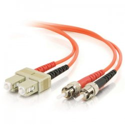 C2G (Cables To Go) - 13568 - C2G 9m SC-ST 62.5/125 OM1 Duplex Multimode PVC Fiber Optic Cable (USA-Made) - Orange - Fiber Optic for Network Device - SC Male - ST Male - 62.5/125 - Duplex Multimode - OM1 - USA-Made - 9m - Orange
