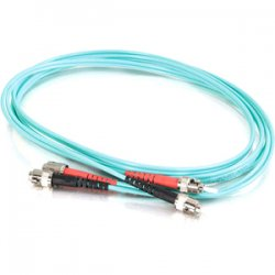 C2G (Cables To Go) - 21638 - C2G Fiber Optic Duplex Patch Cable - ST Male Network - ST Male Network - 29.53ft - Aqua