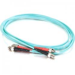 C2G (Cables To Go) - 21640 - C2G-15m ST-ST 10Gb 50/125 OM3 Duplex Multimode PVC Fiber Optic Cable (USA-Made) - Aqua - Fiber Optic for Network Device - ST Male - ST Male - 10Gb - 50/125 - Duplex Multimode - OM3 - 10GBase-SR, 10GBase-LRM - USA-Made - 15m -