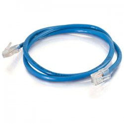 C2G (Cables To Go) - 22820 - C2G 1ft Cat5e Snagless Unshielded (UTP) Network Patch Cable (USA-Made) - Blue - Category 5e for Network Device - RJ-45 Male - RJ-45 Male - USA-Made - 1ft - Blue
