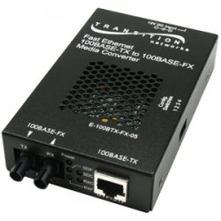 Transition Networks - E-100BTX-FX-05(104) - Transition Networks E-100BTX-FX-05(104) Fast Ethernet Media Converter - 1 x RJ-45 , 1 x SC - 10/100Base-TX, 100Base-FX - External, Wall-mountable