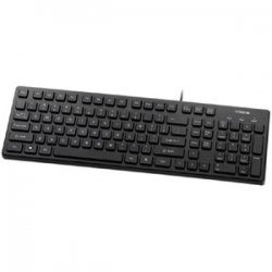 Buslink Media - KR-6401-BK - Buslink KR-6401-BK Slim Keyboard - USB - 103 Keys