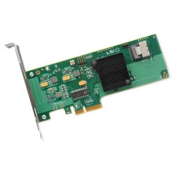LSI Logic - LSI00190 - LSI Logic 9211-4i SAS RAID Controller - PCI Express x4 - 600Mbps Per Port - 1 x SFF-8087 mini SAS 600 - Serial Attached SCSI Internal