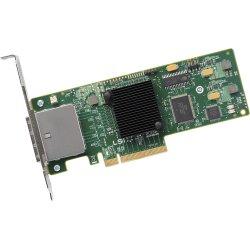 LSI Logic - LSI00188 - LSI Logic 9200-8e 8-ports SAS Controller - PCI Express x8 - Plug-in Card - 2 Total SAS Port(s) - 2 SAS Port(s) External