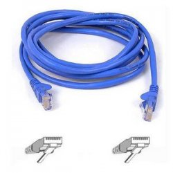 Belkin / Linksys - A3L791-01-BLU-S - Belkin Cat5e Patch Cable - RJ-45 Male Network - RJ-45 Male Network - 1ft - Blue