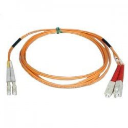 Tripp Lite - N516-15M - Tripp Lite 15M Duplex Multimode 50/125 Fiber Optic Patch Cable LC/SC 50' 50ft 15 Meter - LC Male - SC Male - 49.21ft