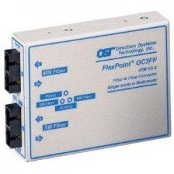 Omnitron - 4455-1 - Omnitron Systems FlexPoint OC3FF Transceiver - 1 x SC , 1 x SC - OC-3, OC-3 - Rack-mountable