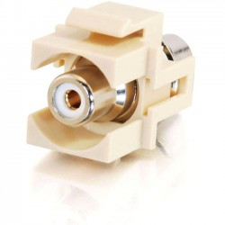 C2G (Cables To Go) / Legrand - 03812 - C2G Snap-In White RCA F/F Keystone Insert Module - Ivory - RCA