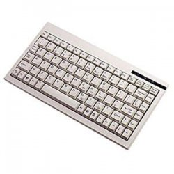 Adesso / ADS Technologies - ACK-595 - Adesso Mini Keyboard ACK-595 - PS/2 - QWERTY - 89 Keys - White