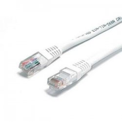 StarTech - C6PATCH1WH - StarTech.com 1 ft White Molded Cat6 UTP Patch Cable ETL Verified - Category 6 - 1 ft - 1 x RJ-45 Male Network - 1 x RJ-45 Male Network - White