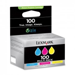 Lexmark - 14N0685 - Lexmark No. 100 Return Program Ink Cartridge - Inkjet - 600 Page - 3 / Pack