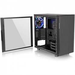 "Thermaltake - CA-1E3-00M1WN-03 - Thermaltake Suppressor F31 Tempered Glass Edition Mid Tower Chassis - Mid-tower - Black - SPCC, Tempered Glass - 5 x Bay - 2 x 5.51"" x Fan(s) Installed - Mini ITX, Micro ATX, ATX Motherboard Supported - 23.37 lb - 8 x"