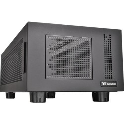 Thermaltake - CA-1F1-00D1NN-00 - Thermaltake Core P100 Computer Case Pedestal - Black - SPCC - 19.18 lb - 11 x Fan(s) Supported - 4 x USB(s) - 1 x Audio In - 1 x Audio Out
