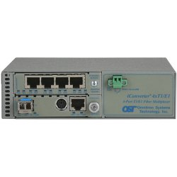 Omnitron - 8823N-2-B - Omnitron Systems iConverter 8823N-2 T1/E1 Multiplexer - 1 x 10/100/1000Base-T Network, 4 x T1/E1 Network, 1 x 1000Base-X Network - 1Gbps Fast Ethernet, 1.54Mbps T1 , 2.048Mbps E1