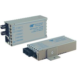 Omnitron - 1120-0-1W - miConverter 10/100 Plus Ethernet Fiber Media Converter RJ45 ST Multimode 5km Wide Temp - 1 x 10/100BASE-TX, 1 x 100BASE-FX, US AC Powered, Lifetime Warranty