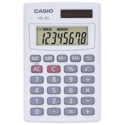 Casio - HS-4G - Casio HS-4G Handheld Calculator - 8 Digits - Solar Powered - 0.3 x 2.2 x 3.4