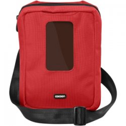 "Cocoon Innovations - CGB150RD - Cocoon CGB150RD Carrying Case (Messenger) for iPad - Racing Red - Ballistic Nylon - 11"" Height x 2.5"" Width x 8.5"" Depth"