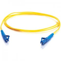 C2G (Cables To Go) - 37107 - C2G-10m LC-LC 9/125 OS1 Simplex Singlemode PVC Fiber Optic Cable - Yellow - Fiber Optic for Network Device - LC Male - LC Male - 9/125 - Simplex Singlemode - OS1 - 10m - Yellow