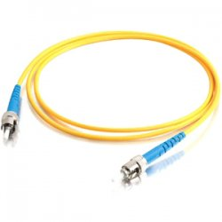 C2G (Cables To Go) - 37119 - 2m ST-ST 9/125 OS1 Simplex Singlemode PVC Fiber Optic Cable - Yellow - Fiber Optic for Network Device - ST Male - ST Male - 9/125 - Simplex Singlemode - OS1 - 2m - Yellow