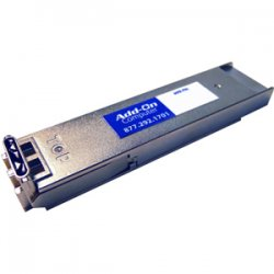 AddOn - EX-XFP-10GE-ZR-AO - AddOn Juniper Networks EX-XFP-10GE-ZR Compatible TAA Compliant 10GBase-ZR XFP Transceiver (SMF, 1550nm, 80km, LC, DOM) - 100% compatible and guaranteed to work