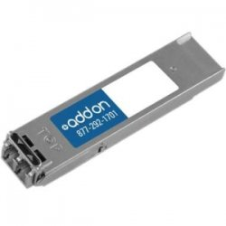 AddOn - XFP-10G-L-OC192SR1AO - AddOn Juniper Networks XFP-10G-L-OC192-SR1 Compatible 10GBase-LR XFP Transceiver (SMF, 1310nm, 10km, LC, DOM) - 100% application tested and guaranteed compatible