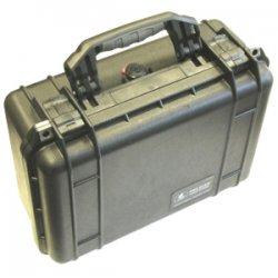 """CRU / Wiebetech - 30030-0030-0012 - WiebeTech Pelican 1450 Shipping Box with Foam - Internal Dimensions: 10.18"""" Width x 6"""" Depth x 14.62"""" Height - External Dimensions: 13"""" Width x 6.9"""" Depth x 16"""" Height - 10 x Hard Drive - Double Throw Latch Closure -"""