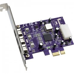 Sonnet Technologies - FW800-E - Sonnet 3-port FireWire 800 PCIe Card Adatper - PCI Express - Plug-in Card - 3 Firewire Port(s) - 3 Firewire 800 Port(s)