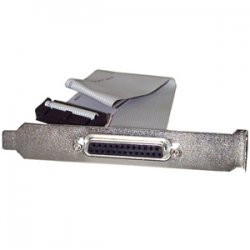 StarTech - PLATE25F16 - StarTech.com 16in DB25 Parallel Female to IDC 25 Pin Header Slot Plate - 16 - 1 x DB-25 Female Parallel - 1 x IDC Female Parallel - Gray
