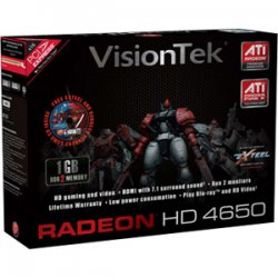 VisionTek - 900264 - Visiontek Radeon HD 4650 Graphic Card - 1 GB DDR2 SDRAM - DVI