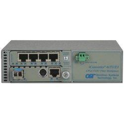 Omnitron - 8831N-1-B - Omnitron Systems iConverter 8831N-1 Managed T1/E1 Multiplexer - 1 x 10/100/1000Base-T , 4 x T1/E1 - 1Gbps Gigabit Ethernet, 1.544Mbps T1 , 2.048Mbps E1