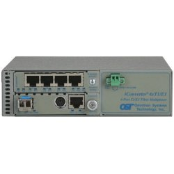 Omnitron - 8830N-1-C - Omnitron Systems iConverter 8830N-1 Managed T1/E1 Multiplexer - 4 x T1/E1 , 1 x 10/100/1000Base-T - 1.544Mbps T1 , 2.048Mbps E1 , 1Gbps Gigabit Ethernet