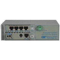 Omnitron - 8831N-1-C - Omnitron Systems iConverter 8831N-1 Managed T1/E1 Multiplexer - 4 x T1/E1 , 1 x 10/100/1000Base-T - 1.544Mbps T1 , 2.048Mbps E1 , 1Gbps Gigabit Ethernet