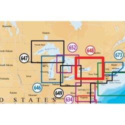 Navionics - CF/648P+ - Navionics Platinum Plus Lake Ontario-Champlain Digital Marine Map - North America - United States, Canada - Ontario, Vermont, Quebec, New Jersey - Ottawa, New York - Lake Champlain, Lake Ontario, Hudson River, Raritan Bay, Finger