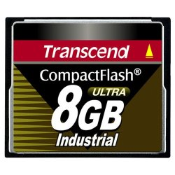 Transcend - TS8GCF100I - Transcend 8GB Ultra Speed Industrial CompactFlash (CF) Card - 8 GB