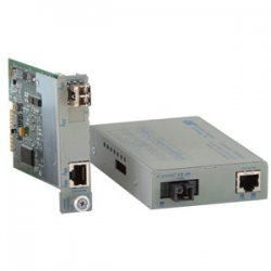 Omnitron - 8511N-2 - iConverter 1000Mbps Gigabit Ethernet Single-Fiber Media Converter RJ45 SC Single-Mode BiDi 40km Module - 1 x 1000BASE-T; 1 x 1000BASE-BX-D (1550/1310); Internal Module; Lifetime Warranty