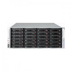 "Supermicro - CSE-847E2-R1400UB - Supermicro SuperChassis SC847E2-R1400UB Rackmount Enclosure - Rack-mountable - Black - 4U - 36 x Bay - 7 x Fan(s) Installed - 2 x 1.40 kW - ATX, EATX Motherboard Supported - 80 lb - 36 x External 3.5"" Bay - 7x Slot(s)"
