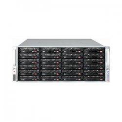 "Supermicro - CSE-847E2-R1400UB - Supermicro SuperChassis SC847E2-R1400UB Rackmount Enclosure - Rack-mountable - Black - 4U - 36 x Bay - 7 x Fan(s) Installed - 2 x 1.40 kW - ATX, EATX Motherboard Supported - 80 lb - 36 x External 3.5"" Bay - 7x Slot(s)"