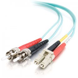 C2G (Cables To Go) - 36130 - C2G-10m LC-ST 10Gb 50/125 OM3 Duplex Multimode PVC Fiber Optic Cable - Aqua - Fiber Optic for Network Device - LC Male - ST Male - 10Gb - 50/125 - Duplex Multimode - OM3 - 10GBase-SR, 10GBase-LRM - 10m - Aqua""