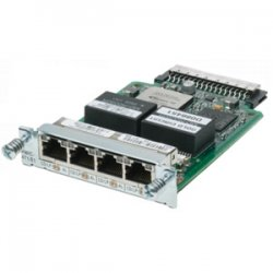 Cisco - HWIC-4T1/E1= - Cisco 4 Port Clear Channel T1/E1 High Speed WAN Interface Card - 4 x T1/E1 WAN2.05 Mbit/s